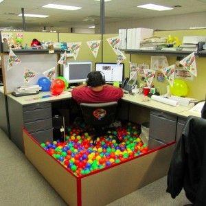 amusing halloween office decoration theme ideas | Funny Halloween office decorations … | Office birthday ...