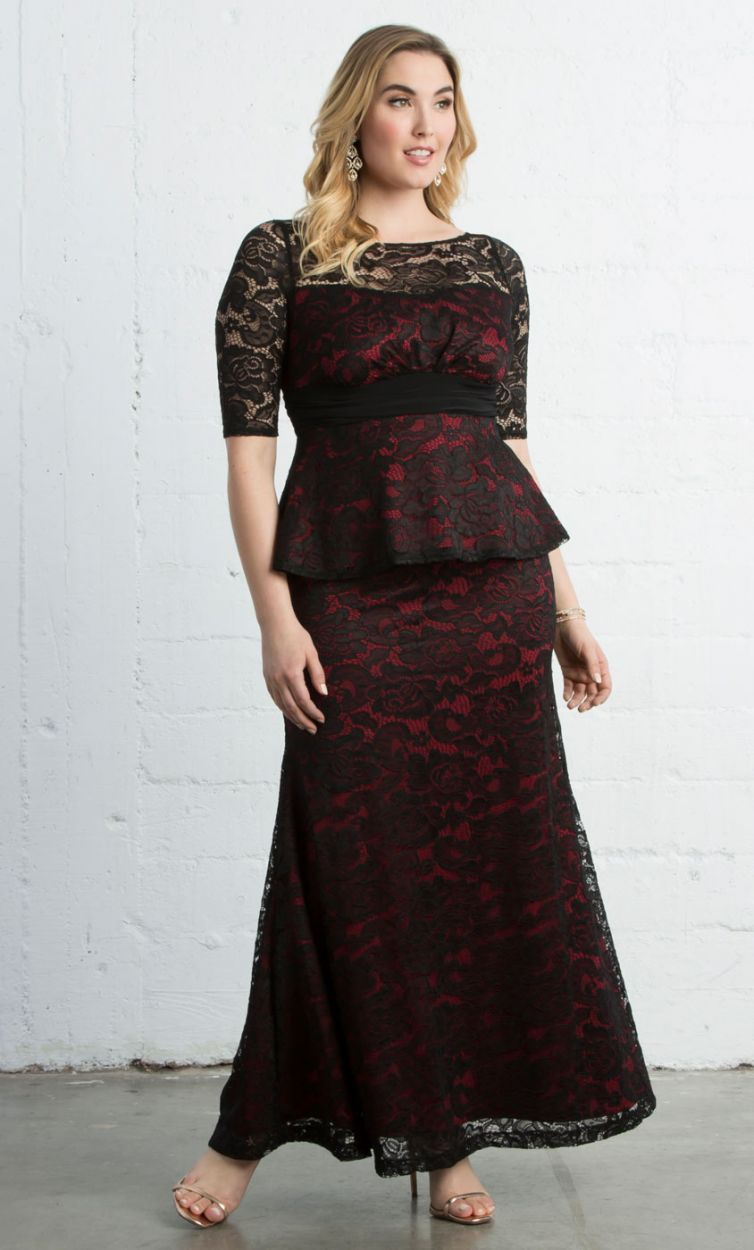 Astoria Lace Peplum Gown Plus Side Of Things Pinterest Peplum