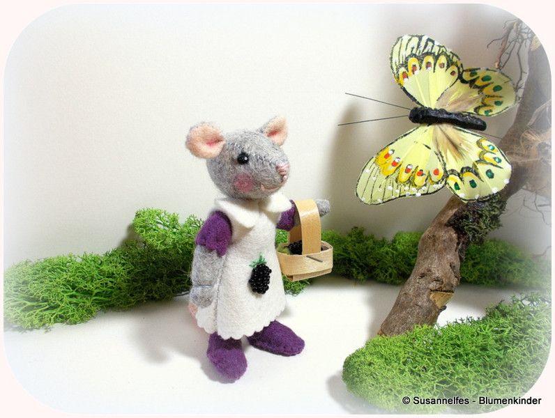 Brombeer-+Maus+Filztiere+Jahreszeitentisch+von+Susannelfes+Blumenkinder++auf+DaWanda.com