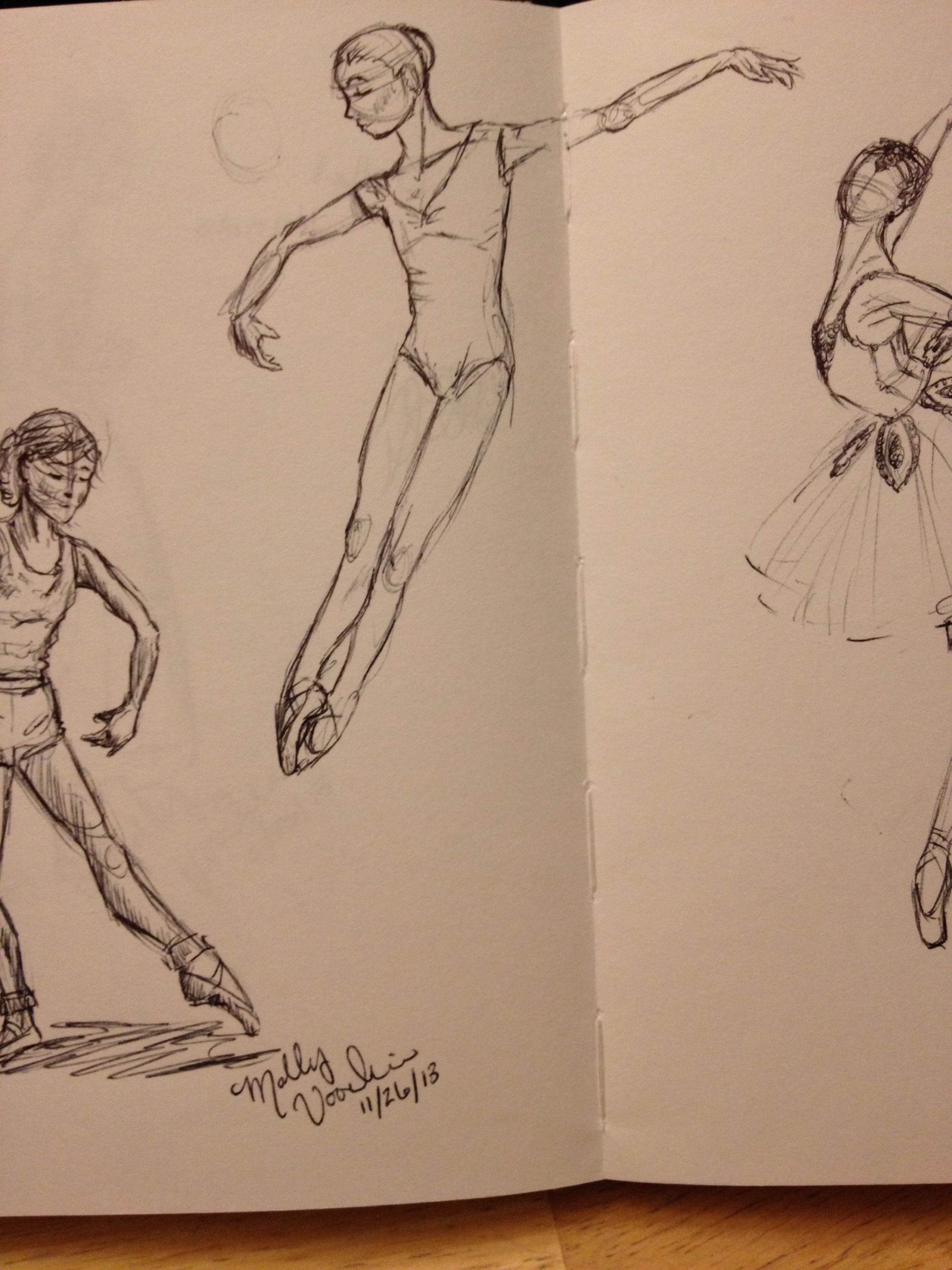 Dancers. by Molly Voorhis