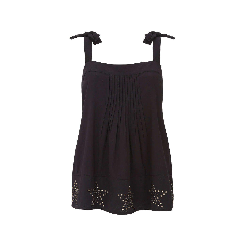BuyMint Velvet Star Embellished Cami, Black, 8 Online at johnlewis.com