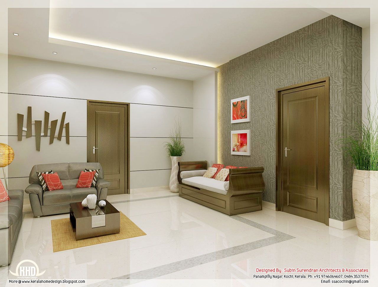 Awesome 3d Interior Renderings Kerala House Design Minima