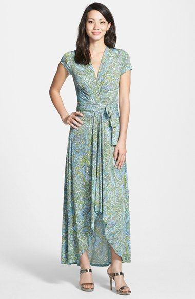 Michael Michael Kors Ashbury Paisley Faux Wrap Maxi Dress