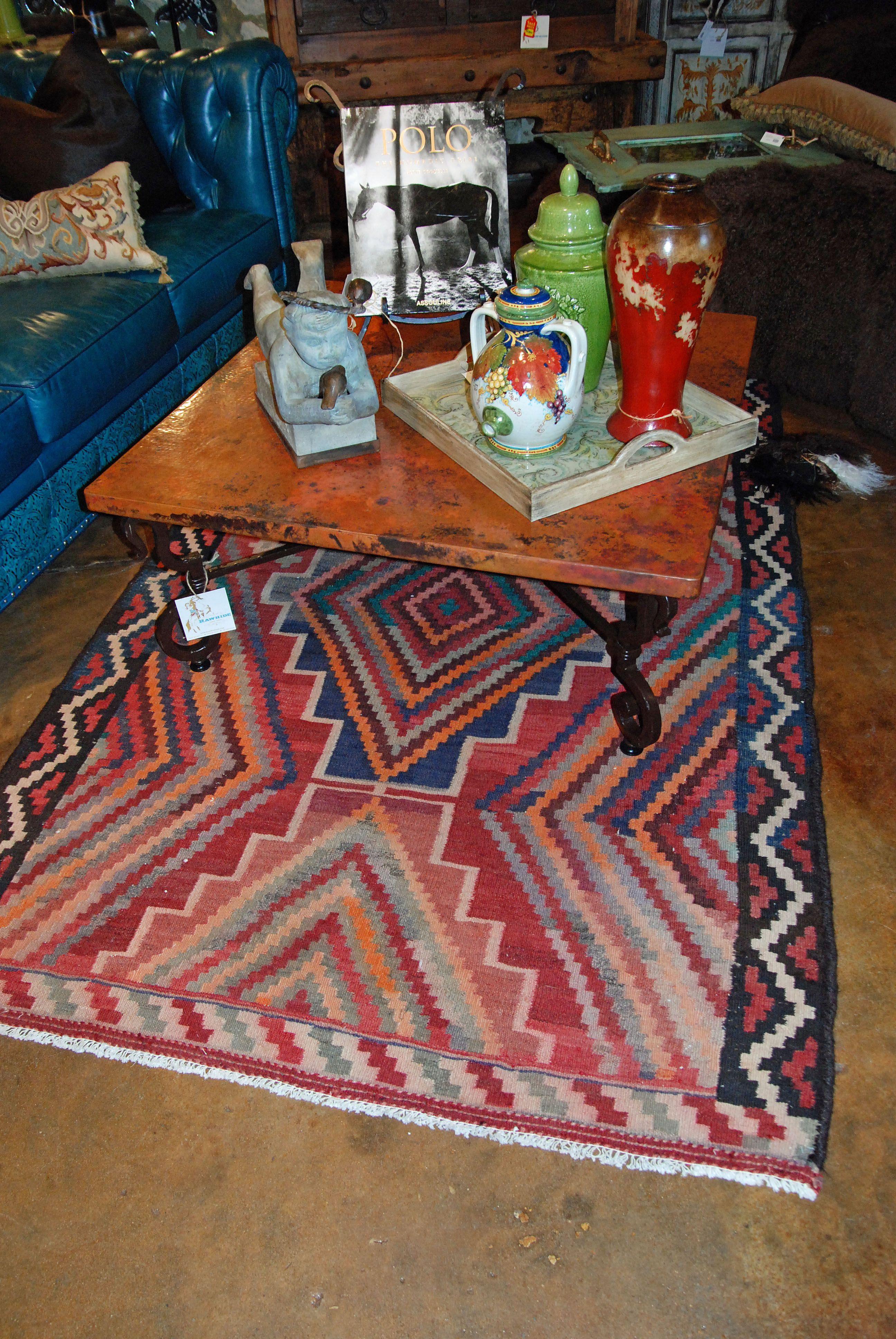 Square Copper Coffee Table Area Rug Httpwwwrawhideranchcocom - Square copper coffee table