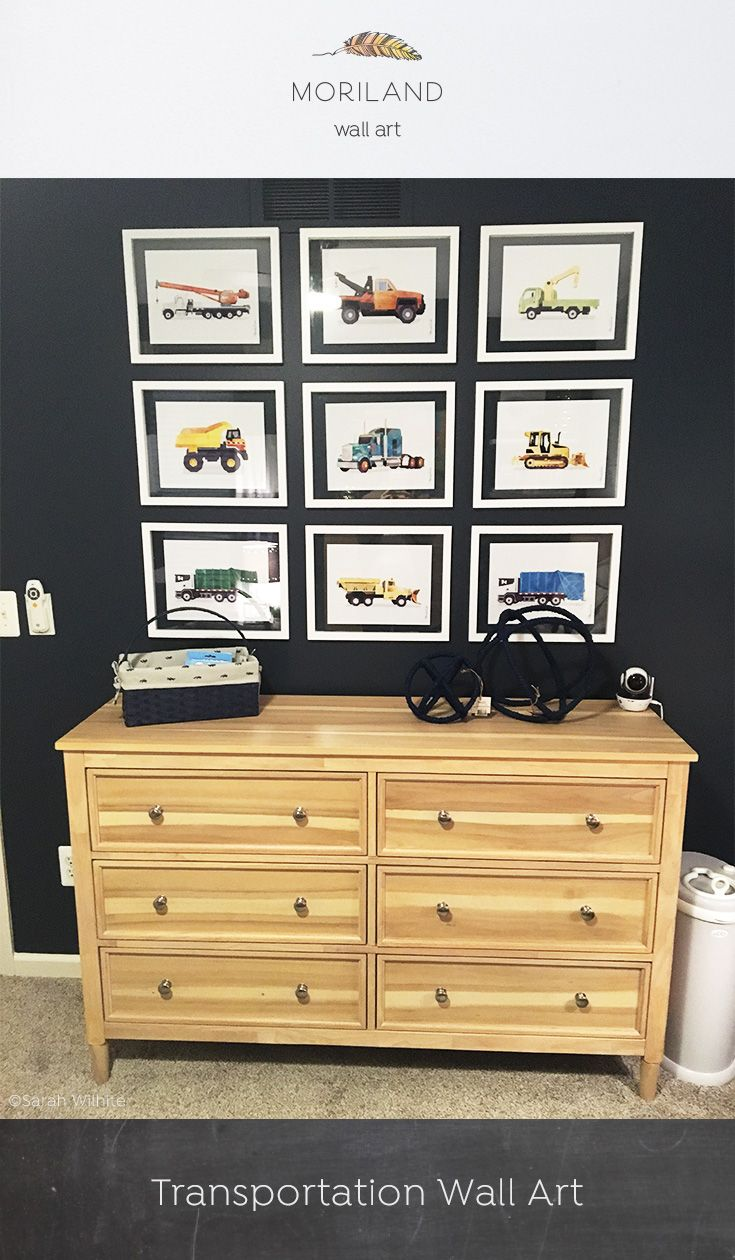 Garbage Truck Print, Transportation Wall Art, Toddler Boy Bedroom ...