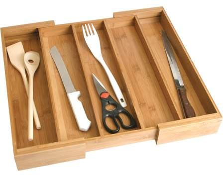 Lipper Bamboo Expandable Utensil Drawer Organizer Utensil Drawer