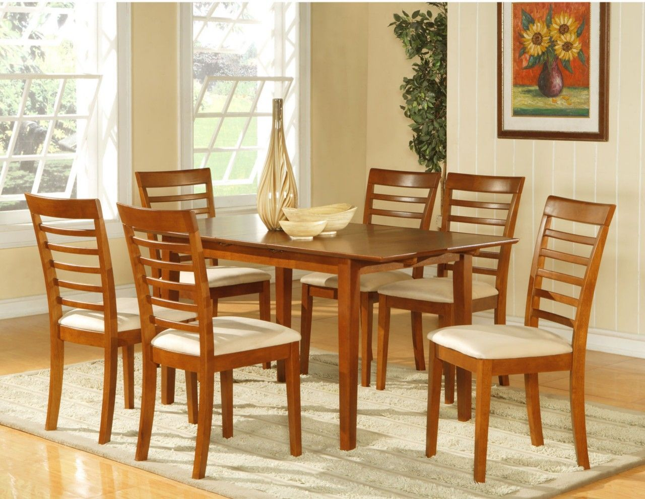 Image result for oak kitchen chair upholstered seat kitchen chairs wooden imports furniture picasso rectangular table and 6 avon upholstered seat chairs saddle brown finish as shown workwithnaturefo