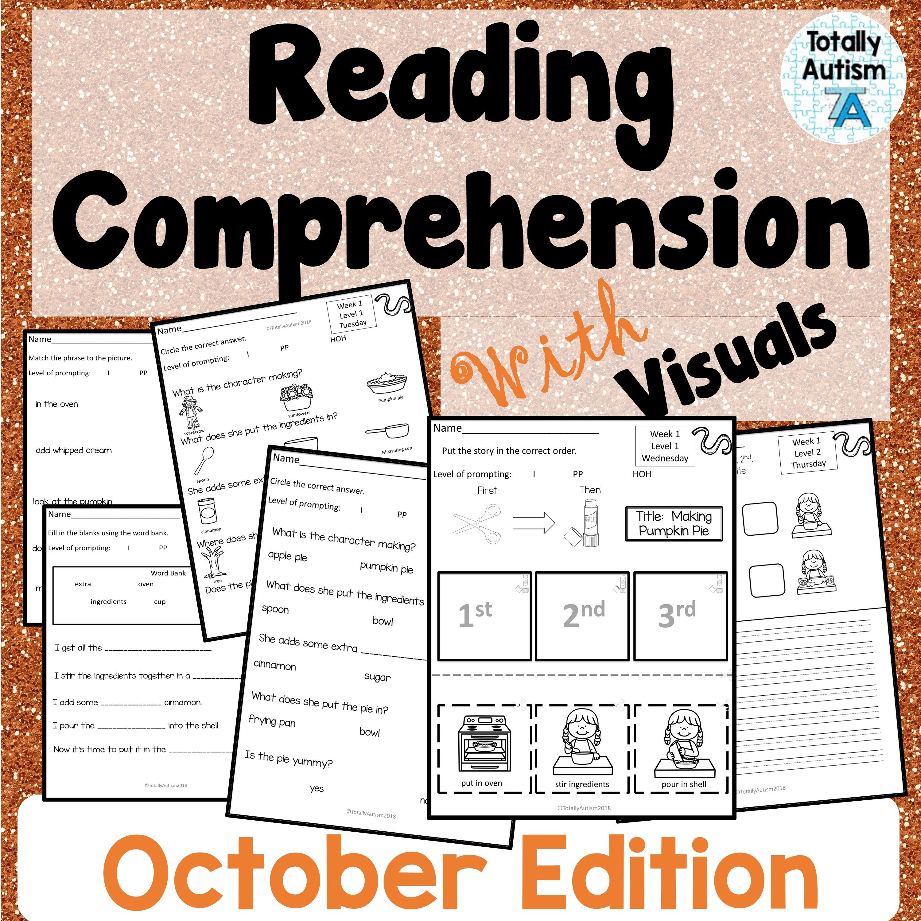 Reading Comprehension With Visuals October Edition