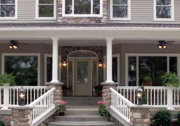 Mid Atlantic Vinyl Products Weatherwise Vinyl Columns Outdoor Stair Railing Porch Columns Outdoor Stairs