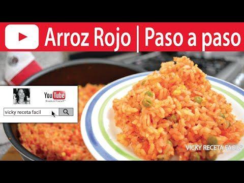 Como Hacer Arroz Rojo Paso A Paso Vicky Receta Facil Vicky Receta Facil Recetas Faciles Sopa De Verduras Receta