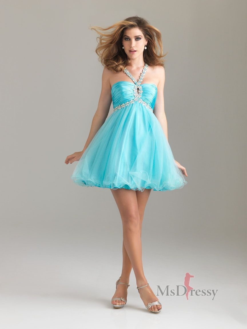 Aline halter tulle shortmini homecoming dress with sequined at