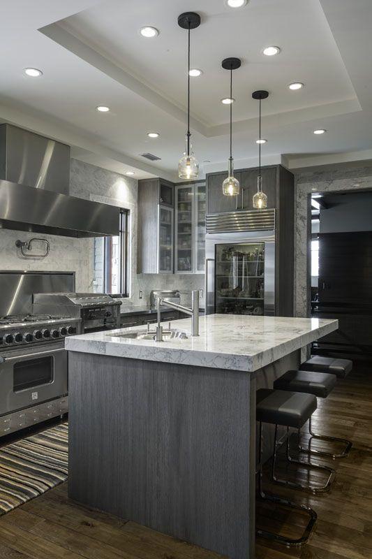 Remodeling Ideas, Kitchen Remodeling, Grey Interiors, Island Life, House  Ideas, Remodeled Kitchens, Gypsum, Kitchen Islands, Modern Decor