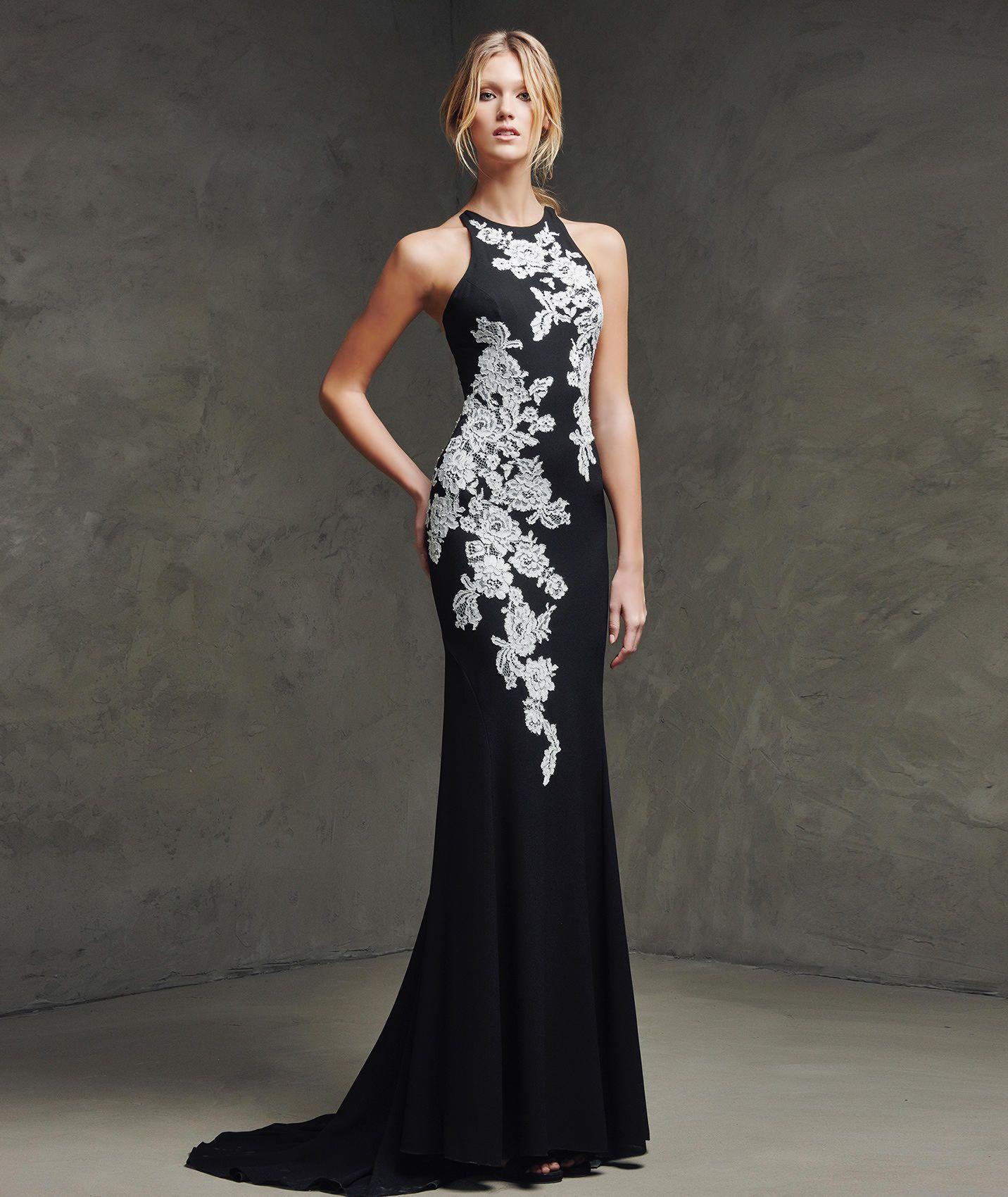 Vestido encaje negro pronovias