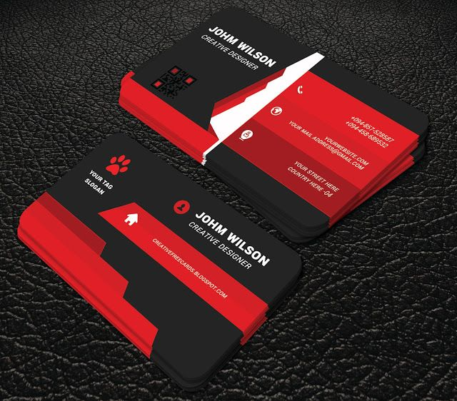 Totaly Free Red Colour Profesional Business Cards Professional Business Professional Business Cards Professional Business Cards Templates Cool Business Cards