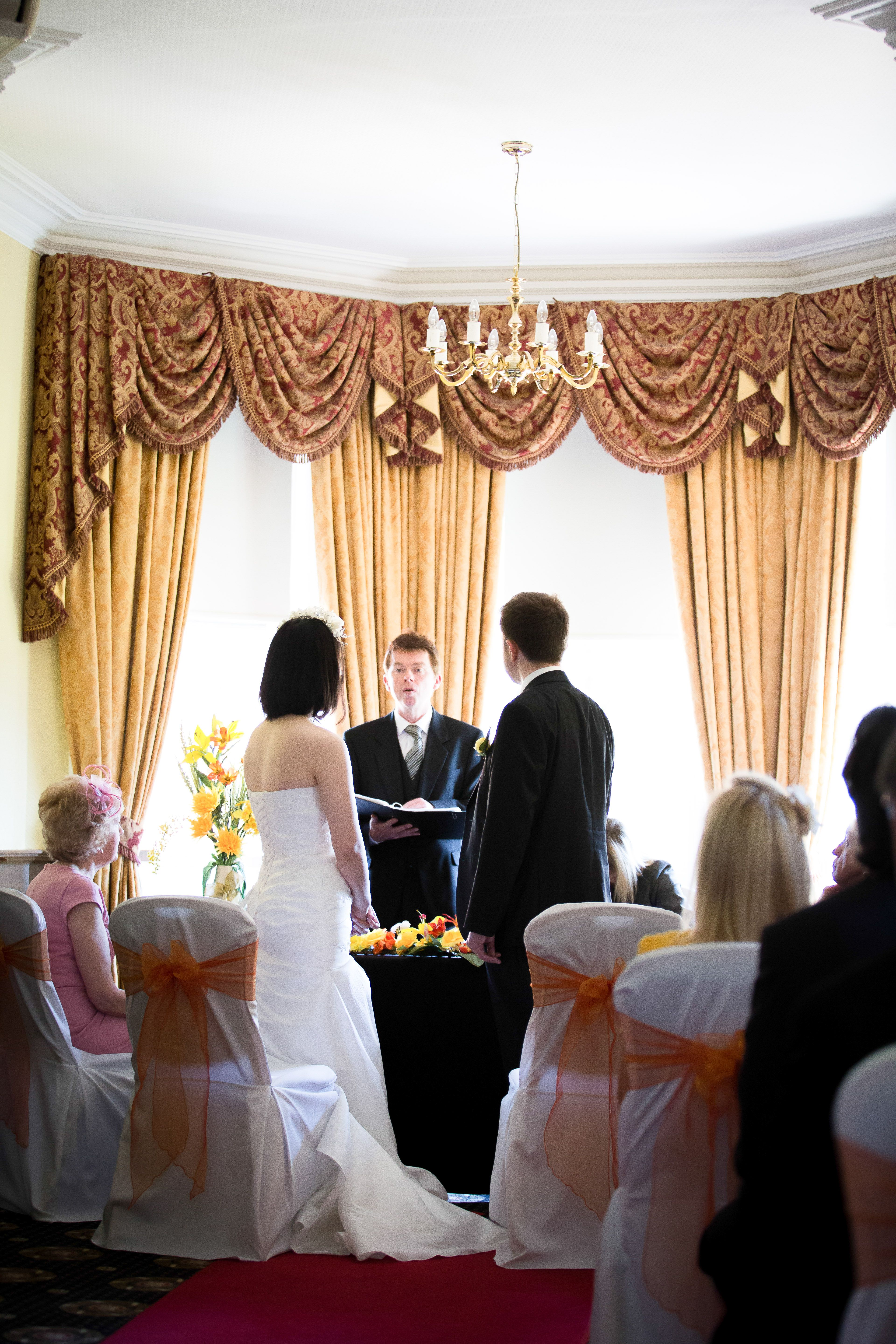 Wedding Ceremony Bracebridge Room At Moor Hall Hotel Spa Venues In Sutton Coldfield Image Courtesy Of Hart Harvey Photography