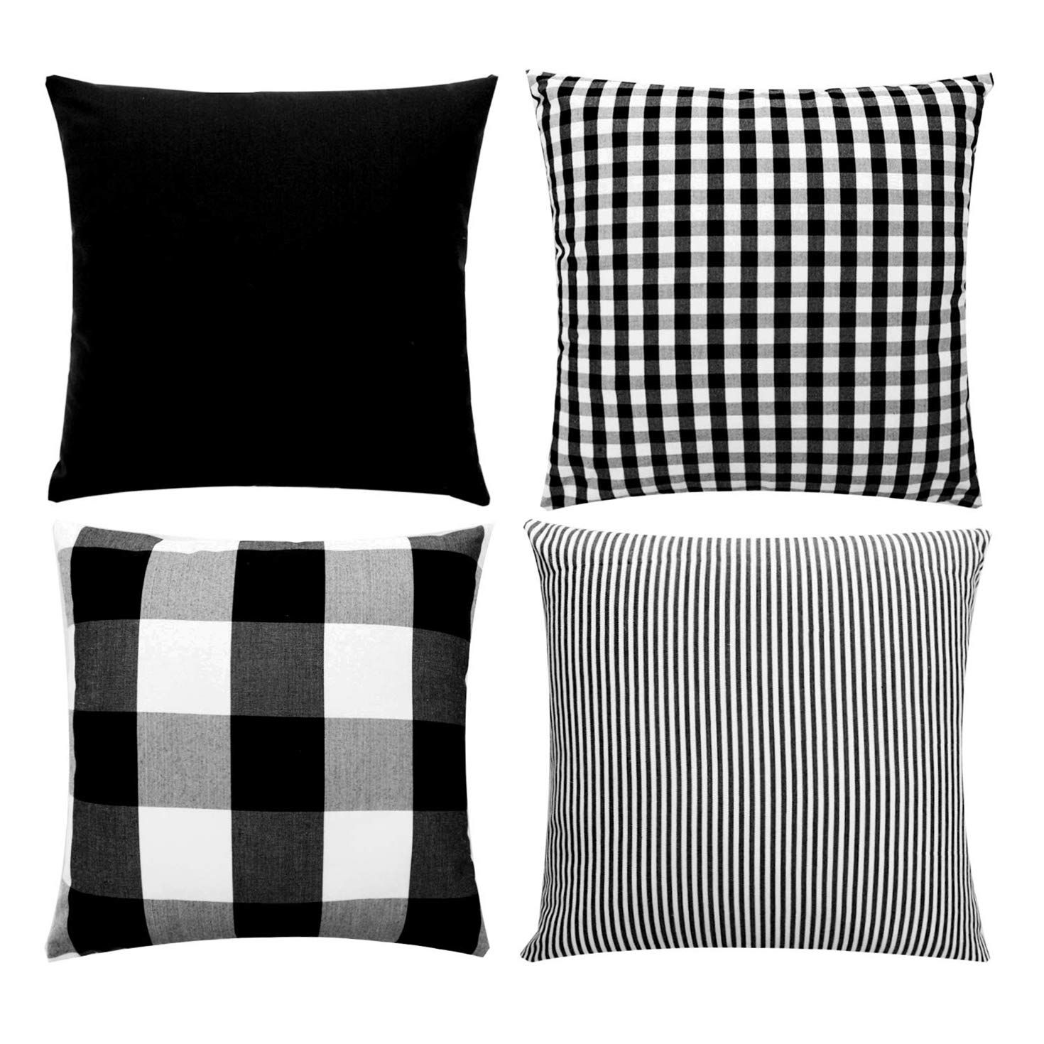 Home In 2020 Buffalo Check Plaid Black And White Decor Buffalo Plaid Pillows