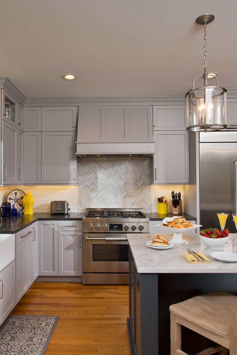 44 Gray Kitchen Cabinets Dark Or Heavy Dark Light Modern In 2020 Grey Kitchen Cabinets Modern Grey Kitchen Beige Kitchen