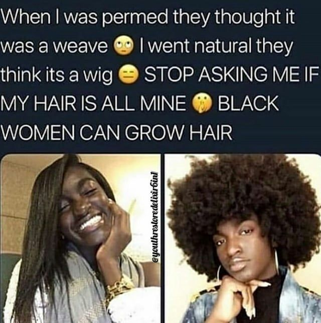 It's a Myth that we can't grow our hair! I'm here to disprove this myth. I was asked often if my af