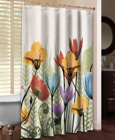 Flowers And Ferns Shower Curtain Curtains Home Flowers Home Decor