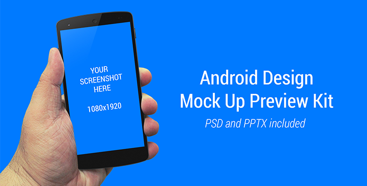 Android Design Mock Up Preview Kit Android Design Powerpoint Free Mockup