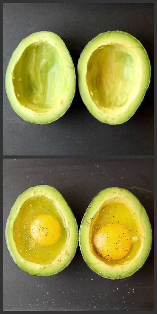 how to bake eggs in an avocado egg avocado baked kitchen hacks pinterest fr hst ck. Black Bedroom Furniture Sets. Home Design Ideas