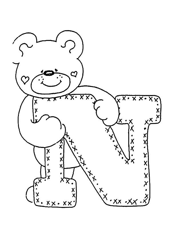 Ausmalbilder Buchstaben N Basteln Buchstaben Ausmalbilder Und