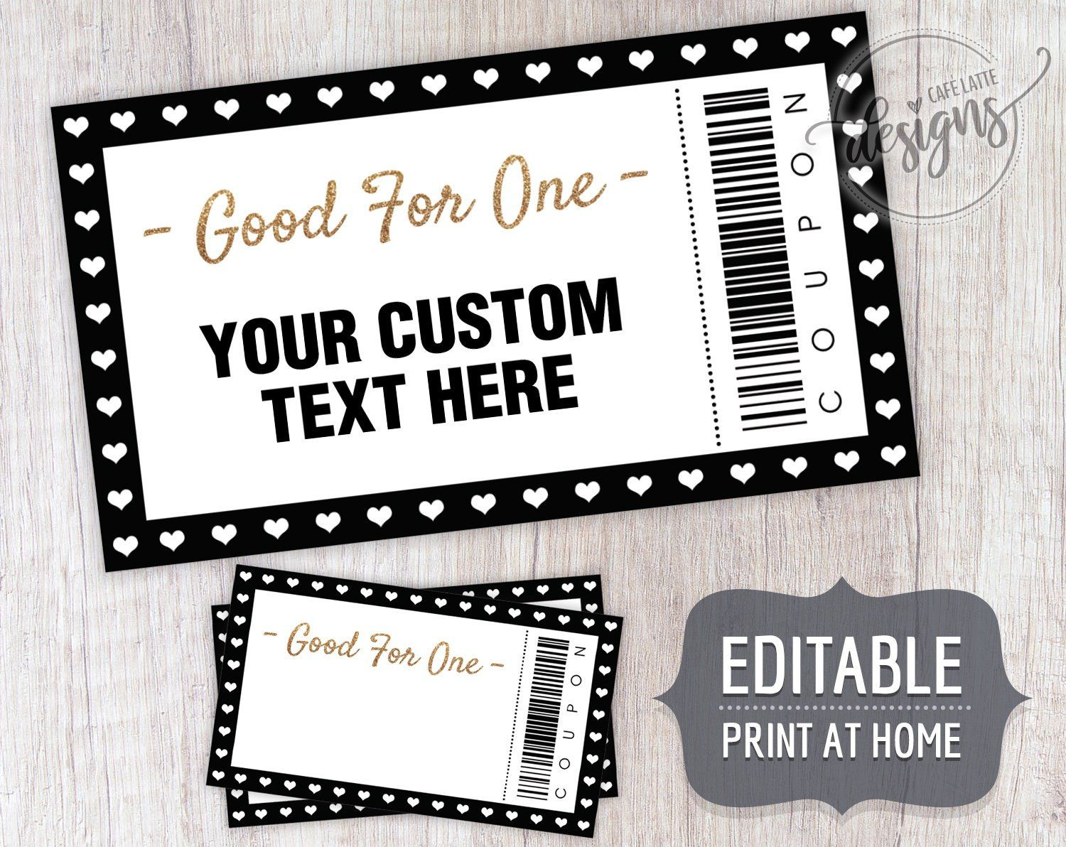 Coupon Template Christmas Editable Coupons For Dads Moms Kids Teens Custom Personalized Birthday Coupon Book Printable Instant Download Coupon Template Coupon Book Birthday Coupons