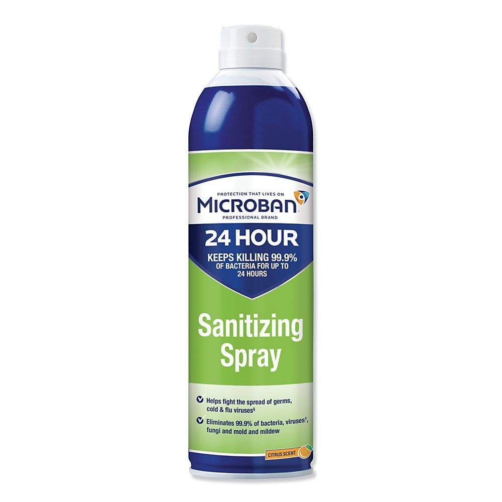 Microban 24 Hour Disinfectant Sanitizing Spray Citrus Scent 15 Oz Spray Bathroom Cleaner Gutter Cleaning Tool