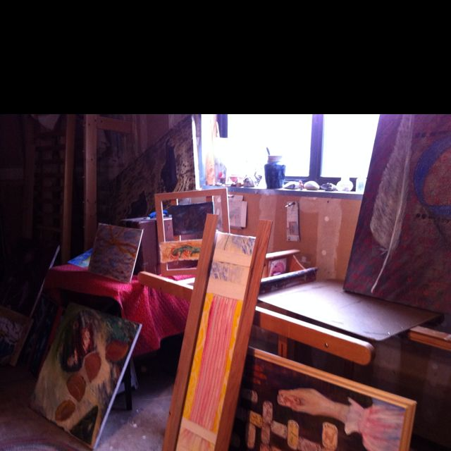 One afternoon in my studio. Looking at work