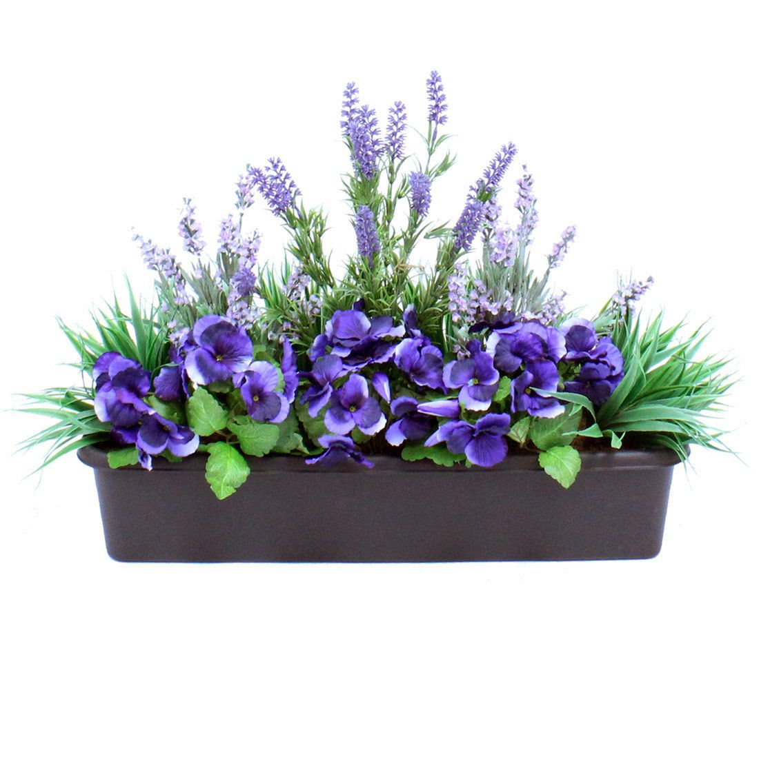 Artificial Pansy & Lavender Window Box | Fall Pots and ...