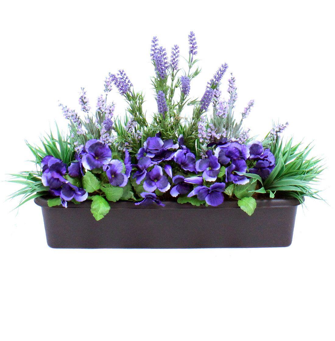 Artificial Lavender Window Box Flowers