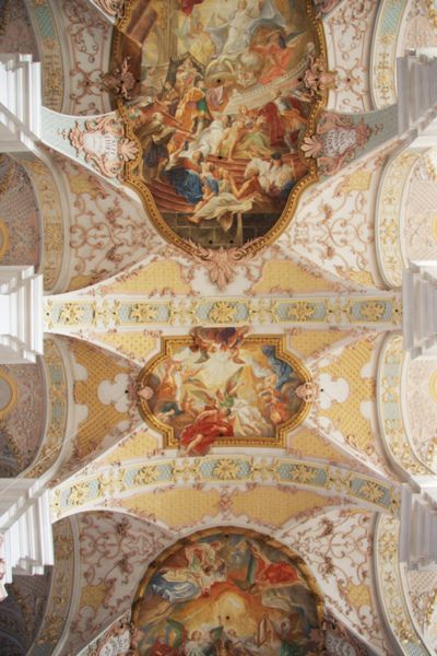 Holy Spirit Church in Munich, ceiling fresco:work of Cosmas Damian and Egid Quirin Asam the most famous artists of the bavarian rococo
