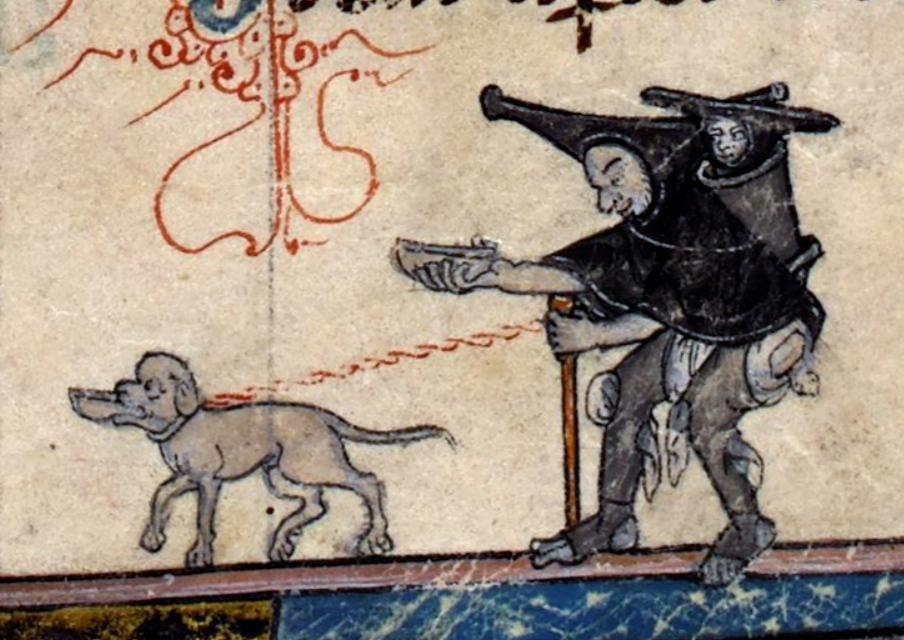 Beggars (@BLMedieval, Add MS 10294/1, 14th c.)