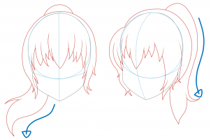 How To Draw Girl Hair How To Draw Anime Hair How To Draw Hair Girl Drawing