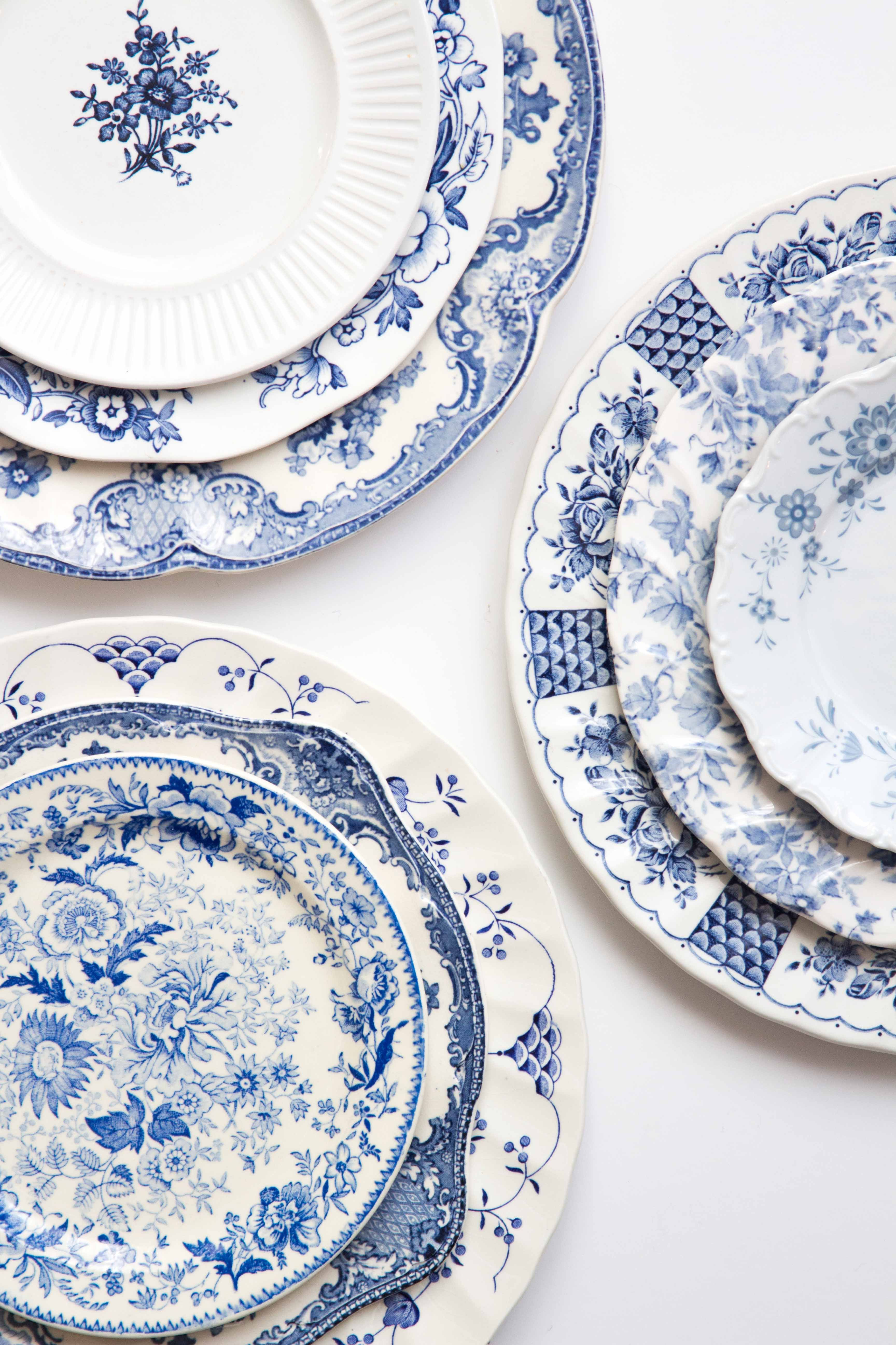 Greek Collection Dinner Plate Blue And White Dinnerware Blue And White China Vintage Crockery Blue and white salad plates