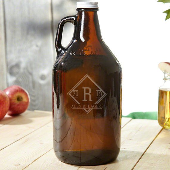 Drake Amber Personalized Beer Growler - Beer Lover Gift, Engraved Beer Growler, Etched Beer Growler, -   19 crafts beer growler