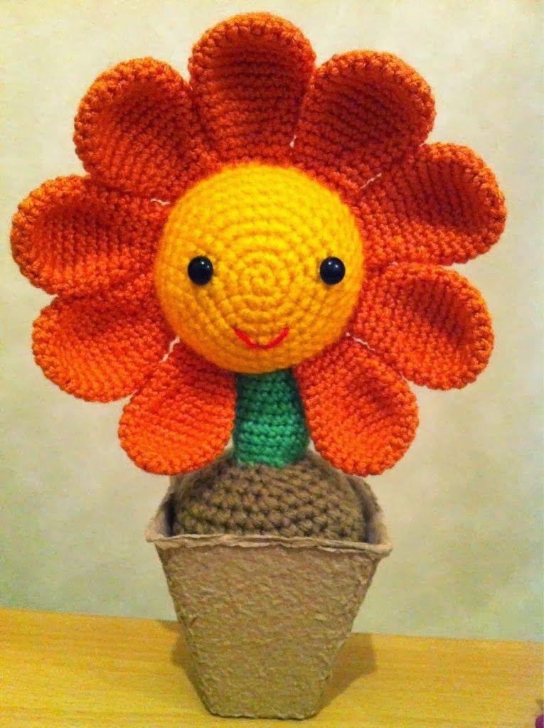 flor amigurumi - Buscar con Google   amigurumis   Pinterest   Flor ...