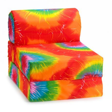 2 Tie Dye Flip Chair Beds Kids Comfy Chair Kids Chairs Chair Ties