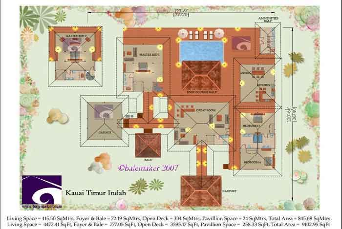 From Bali With Love Tropical House Plans From Bali With Love Tropical Houses Bali House House Floor Plans