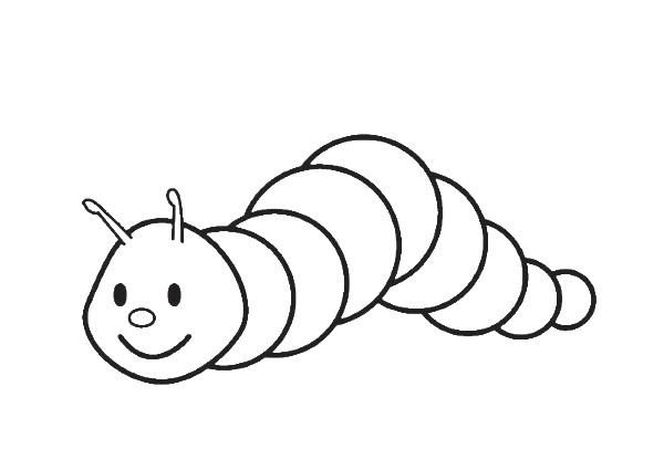 Free Caterpillar Coloring Page For Kids Which Includes A Color Along Video Tutorial Coloring Pages Coloring Pages For Kids Butterfly Coloring Page