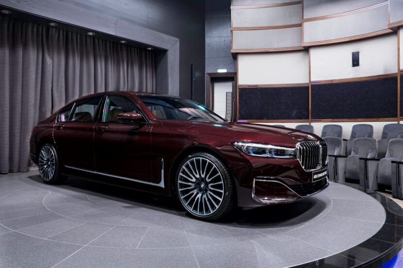 Bmw 750li Xdrive Finished In Royal Burgundy Red Is An Absolute Stunner In 2020 Bmw Living In Car Burgundy Red