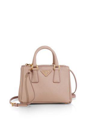 6a52fb99f2ec7d PRADA Saffiano Lux Mini Satchel. #prada #bags #shoulder bags #hand bags  #leather #satchel #