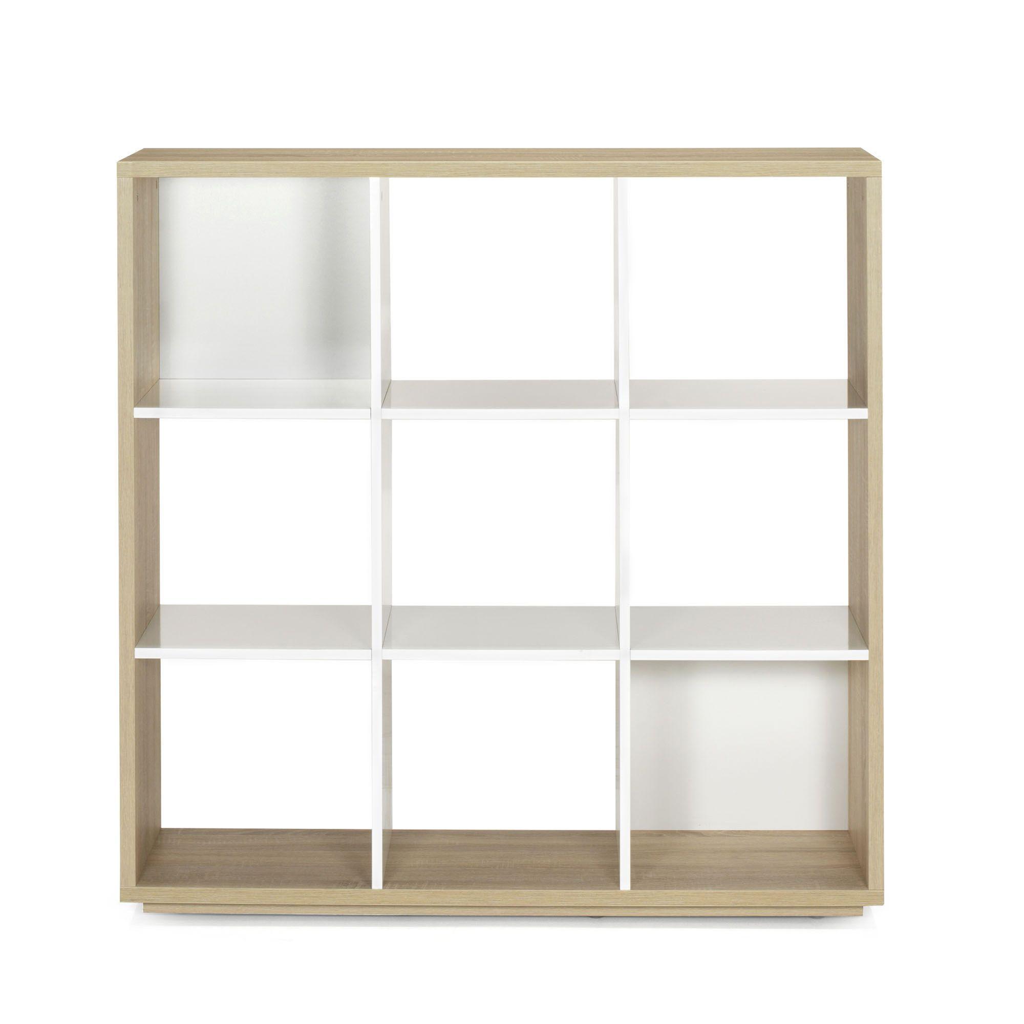 bibliothque 9 cases design scandinave chneblanc checker alina