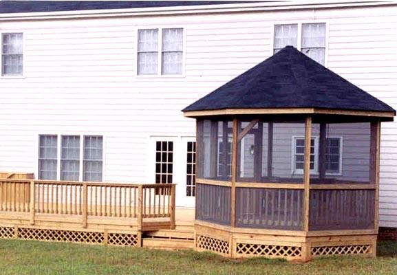 Deck With Screened Gazebo Plans Gazebo And Deck Gazebo Plans