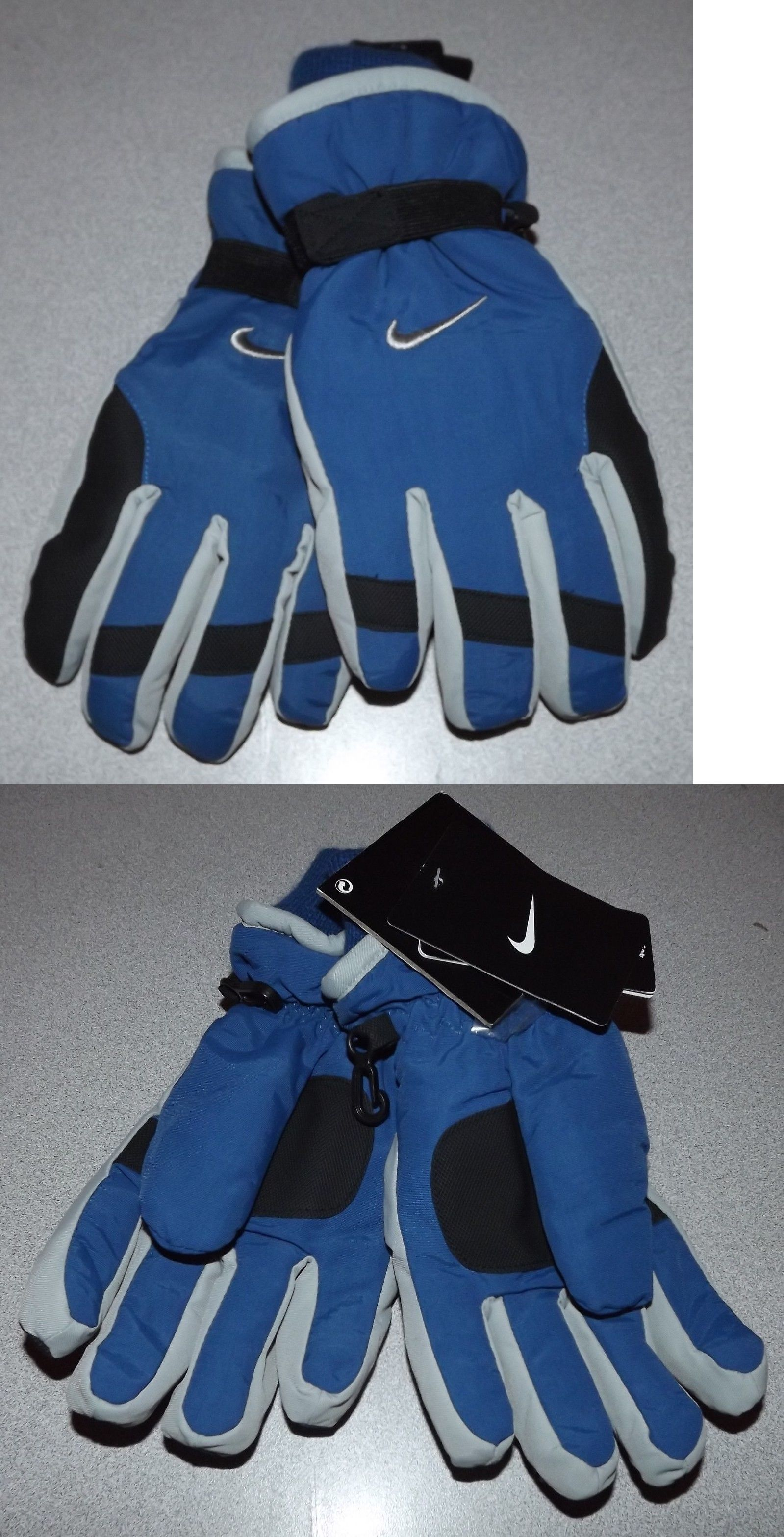 0fd50c986fc33a Gloves and Mittens 57885  Nike Boys Youth Ski Winter Gloves Gym Blue And  Gray Size 8-20 Nwt  28 -  BUY IT NOW ONLY   14 on  eBay  gloves  mittens   youth   ...
