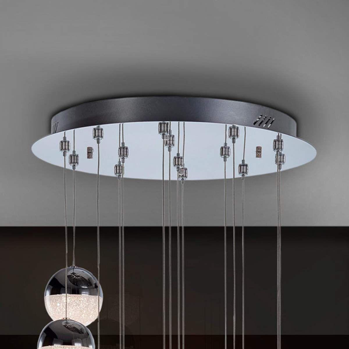 Designer Pendel Und Hangeleuchten Sphere Von Schuller Silber Led Hangeleuchte Led Pendelleuchte Und Led Hangelampen