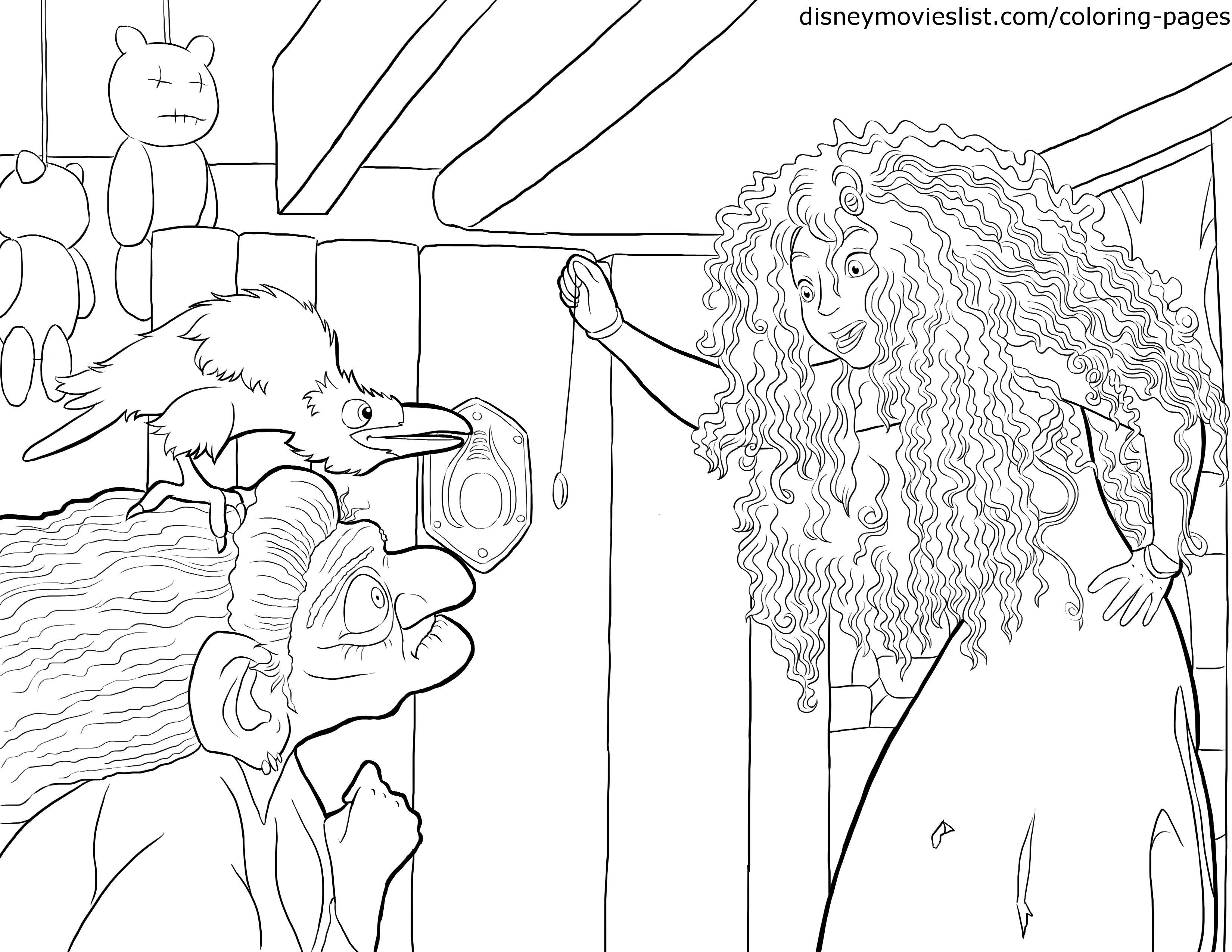 Disney\'s Brave Coloring Pages Sheet, Free Disney Printable Brave ...