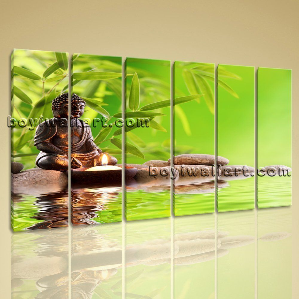 Paintings For Living Room Feng Shui Large Buddha Zen Feng Shui Contemporary Wall Art Canvas Print