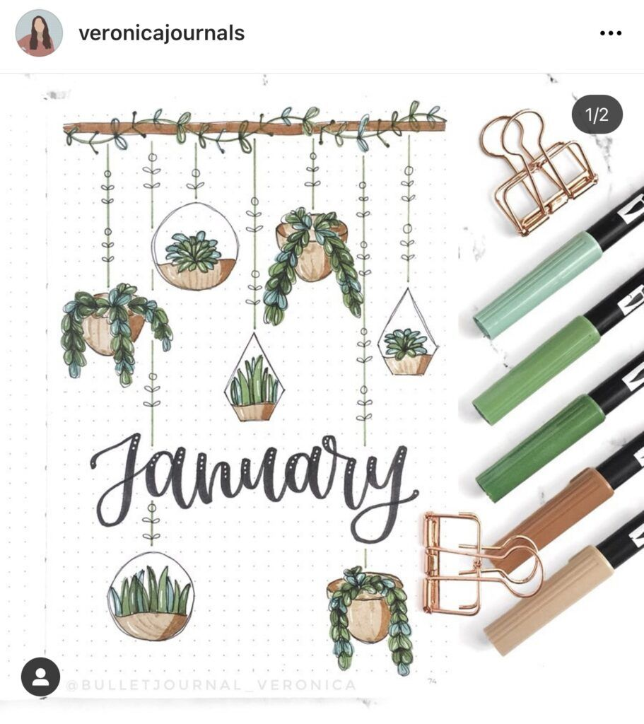 January Bullet Journal Inspiration - Rae's Daily P