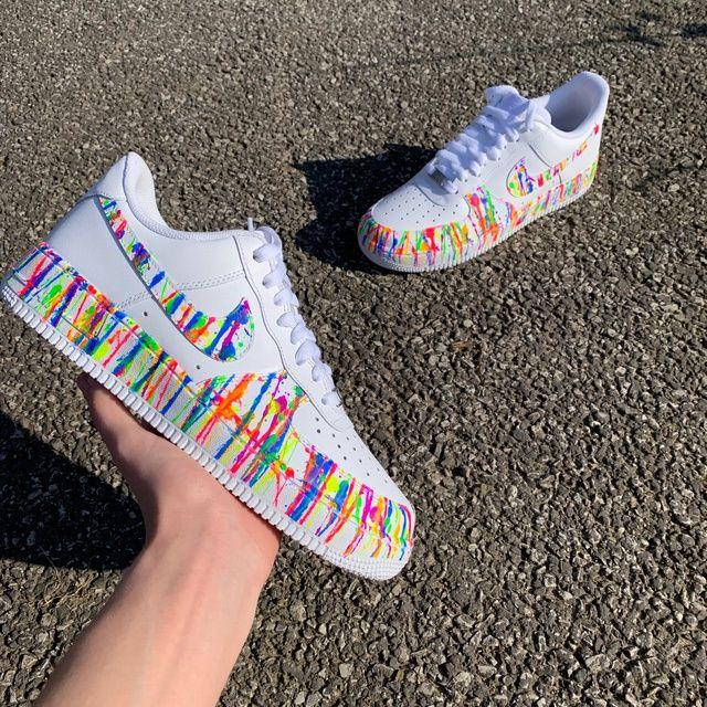 Nike AF1 White Neon Splash | THE CUSTOM MOVEMENT | Custom